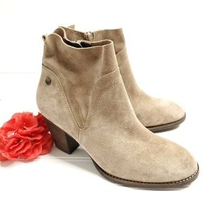 Paul Green Suede Ankle Boots Booties Sz 5.5
